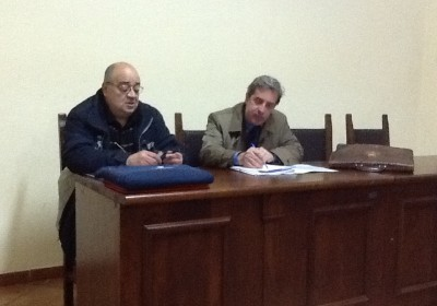Acri-Il presidente del comitato Vincenzo Toscano e l'Avv. Scarpelli